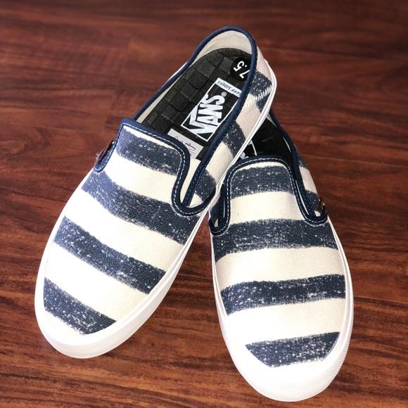Vans Shoes | Vans Comino Stripe Dress Blues Mens 1 | Poshmark